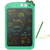 10'' LCD Writing Tablet Toys for 3 4 5 6 Year Old Boys Girls Gifts, Colorful Drawing Board Writing Doodle Pad, Portable Scribbler Boards Educational Toys Gifts for Kids Learning (Cyan Dinosaur)
