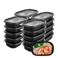 Meal Prep Containers, NewShip Plastic Food Containers for Meal Prepping, Reusable Food Storage Containers with lids, Containers Reusable (26.4 oz) [20 Pack]