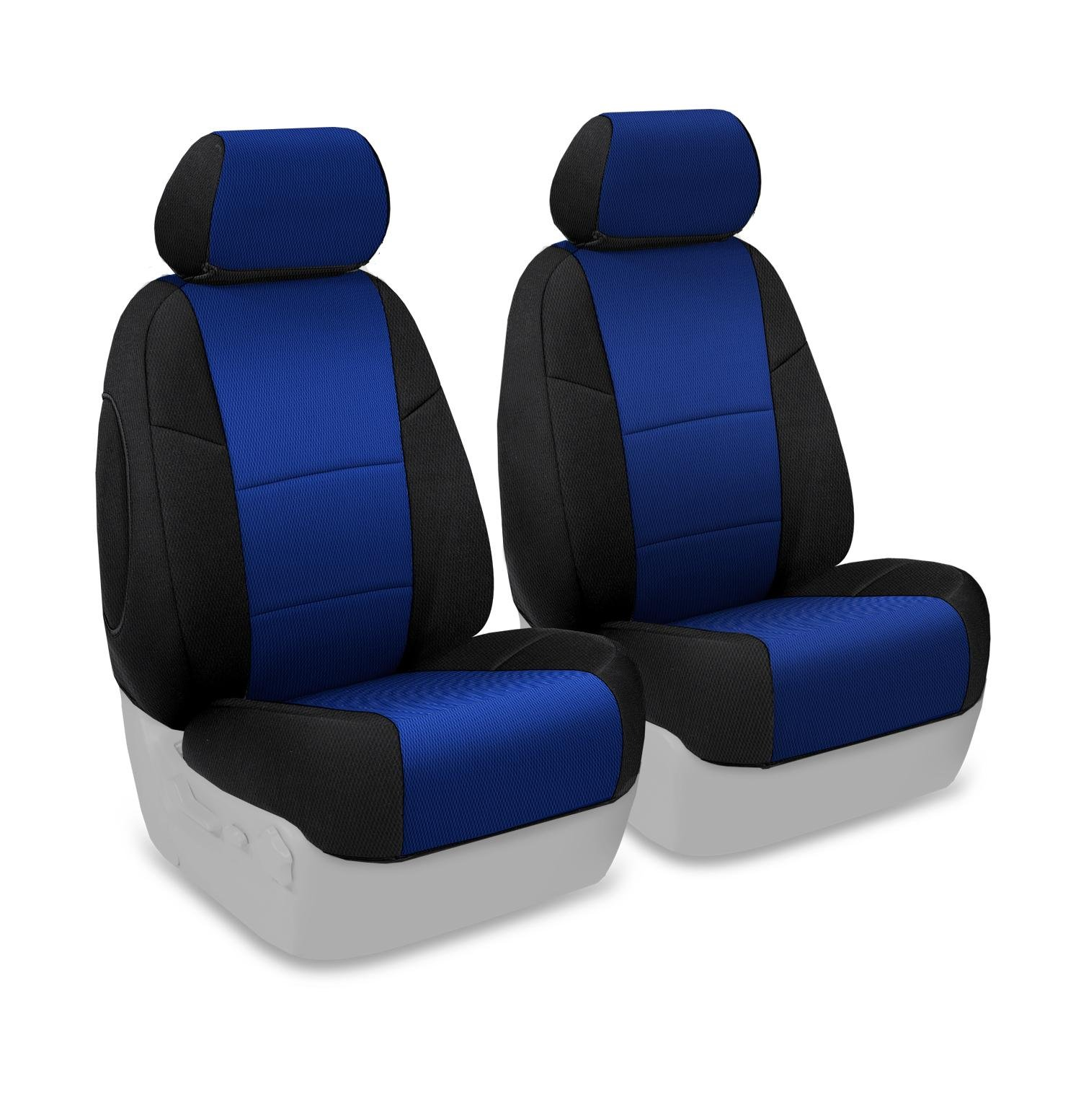 Coverking Custom Fit Front 50/50 Bucket Seat Cover for Select Mazda 3 Models - Spacermesh 2-Tone (Blue with Black Sides)