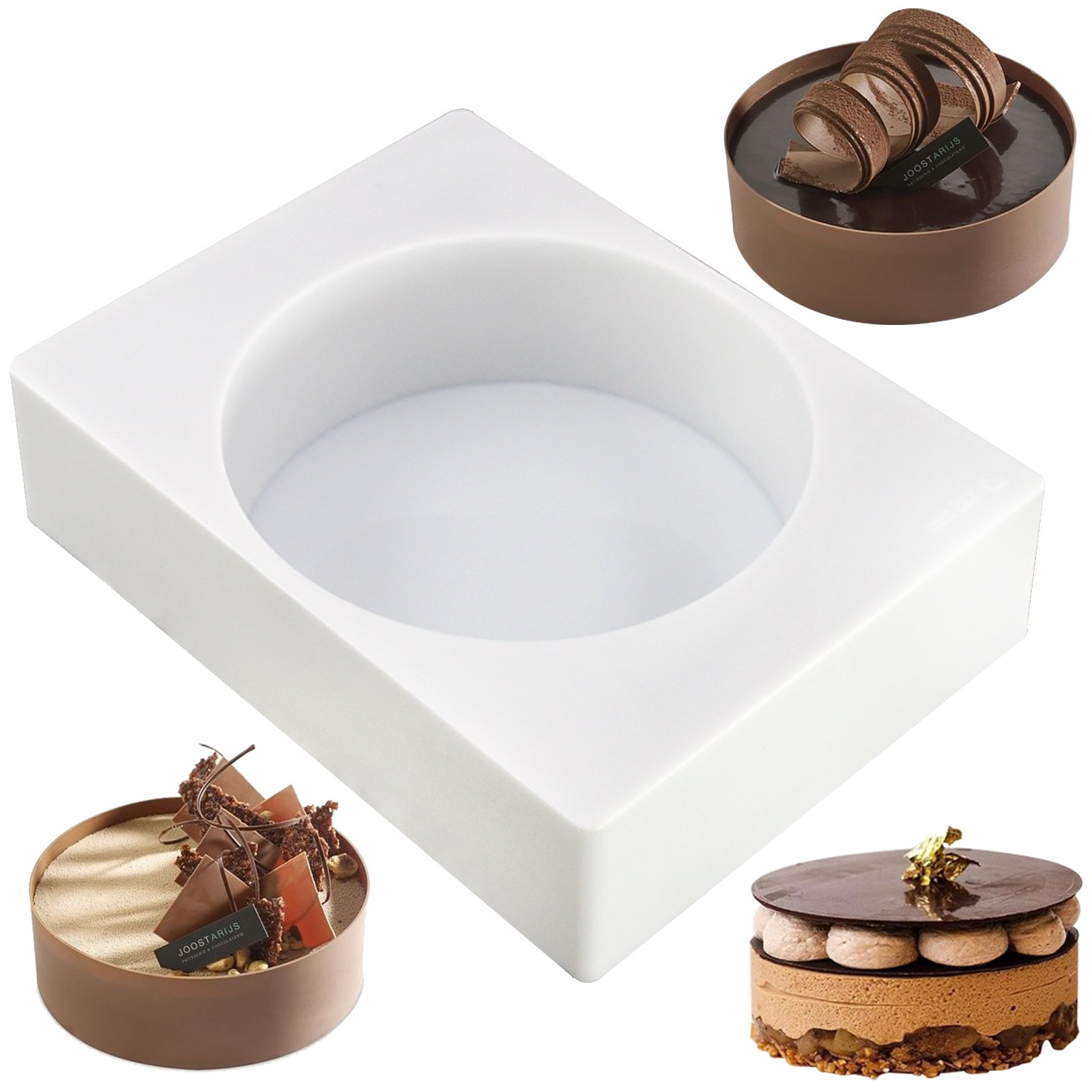 Funshowcase Round Disc Silicone Mold Tray Shape Size 5.3x5.3x1.9inch Large