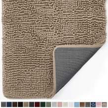 Gorilla Grip Original Indoor Durable Chenille Doormat, 48x30, Absorbent, Machine Washable Inside Mats, Low-Profile Rug Doormats for Entry, Mud Room Mat, Back Door, High Traffic Areas, Beige