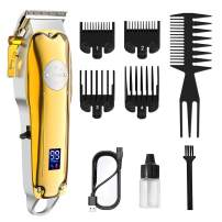 Hair Clippers for Men Cordless Professional Hair Trimmer Beard Trimmer Kit Hair Clipper Barber Haircut Grooming Kit Rechargeable LED Display