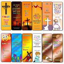 Christian Gospel Bookmarks for Kids (30 Pack) - Well Designed for Kids with Easy to Memorize Bible Verses - Church Ministry Supplies Classroom Teacher Incentive Gifts Giveaways