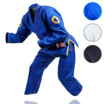 Gold BJJ Jiu Jitsu Gi - Ultra Strong Gold Weave Premium Kimono - IBJJF Competition Approved Uniform