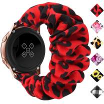 Huishang 20mm 22mm Quick Release Watch Bands, Elastic Scrunchie Watch Band for Women(Red Leopard,20/22mm)