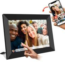 FRAMEO Digital Picture Frame WiFi 10 inch with IPS HD Touch Screen Auto-Rotate 16GB Storage Smart Cloud Photo Frame Easy Setup to Share Photos or Videos via Free App at Anytime and Anywhere
