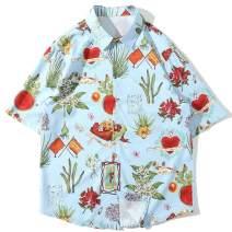 Aelfric Eden Hawaiian Shirt for Men's Short Sleeve Palm Colorful Print Casual Fashion Hawaii Beach Tops Shirt