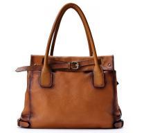La Poet Genuine Leather Shoulder Tote Bag Purse