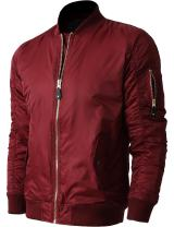 Mens MA-1 Flight Bomber Jacket Active Casual Military Outwear