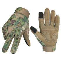 OZERO Hunting Gloves Extra Grip Synthetic Motocross Glove with Impact Protective Big Gel Back and Hyflex Touch screen Fingertips for Men and Women Camo X-Large