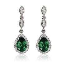 A+O Elegant Teardrop Cubic Zirconia Crystal Earrings in Silver, Gold, Rose Gold