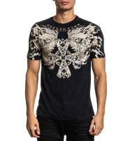 Affliction Men's Graphic T-Shirt, Mire Variant, Short Sleeve Crew Neck Shirt