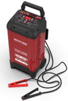 Smartech WBC-250 Wheel Automotive Battery Charger For All 6V & 12V Batteries 250 Amp Engine Start & 50 Amp Boost Function Digital Readout Display Microprocessor for Safe Fast Easy Charging