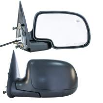 Driver & Passenger Side Mirror for Cadillac Escalade Chevy Avalanche Silverado Suburban HD Tahoe GMC Sierra Yukon XL 1500 2500 3500 2003-2007 Textured, Power Operated, Heated - GM1321293, GM1320293