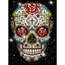 """SKRYUIE 5D Diamond Painting Rose Skeleton Full Drill Paint with Diamond Art, DIY Skull Flower Painting by Number Kits Cross Stitch Embroidery Rhinestone Wall Home Decor 30x40cm (12""""x16"""")"""