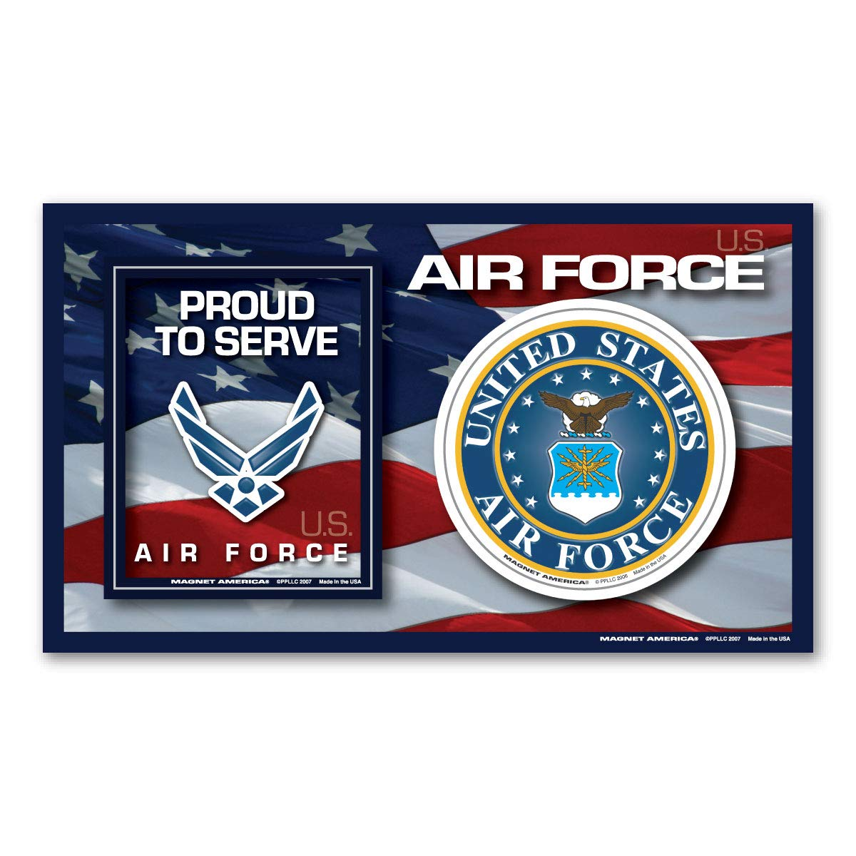 Air Force Photo Frame Magnet