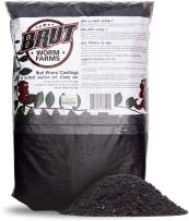 Brut Worm Farms - Worm Castings Soil Builder - Organic Fertilizer - Natural Enricher for Healthy Houseplants, Flowers, and Vegetables - Use Indoors or Outdoors - Non-Toxic and Odor Free - 30 Pounds