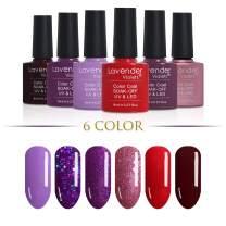 6-Color Gel-Nail-Polish Kit 8ml UV LED Gel-Varnish Lavender Nail-Lacquer Set F823