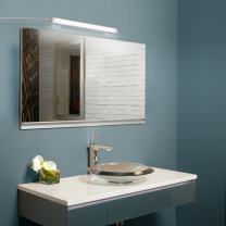 Albrillo LED Mirror Light with Suction Cup, Vanity Lights, USB Powered, Cordless Makeup Light, Daylight White