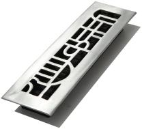 Decor Grates ADA212-NKL 2-Inch by 12-Inch Art Deco Aluminum Nickel Floor Register, Cast Aluminum with Brushed Nickel Finish