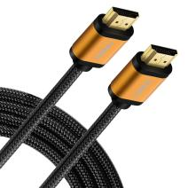 FIRBELY High Speed HDMI Cable- UHD HDMI Cord Braided Gold Plated Connector 60Hz Ultra High Speed 18Gbps Support Fire TV/Ethernet/Audio Return/Video 4K UHD 2160p HD 1080p 3D/Xbox Playstation 3 feet