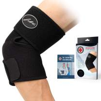 Doctor Developed Elbow Brace & Elbow Support AND DOCTOR WRITTEN HANDBOOK —GUARANTEED RELIEF & SUPPORT for Elbow Injuries and Other Elbow Conditions