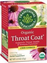 Traditional Medicinals Organic Throat Coat Lemon Echinacea Seasonal Tea, 16 Tea Bags (Pack of 1)