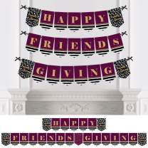 Big Dot of Happiness Elegant Thankful for Friends - Friendsgiving Thanksgiving Party Bunting Banner - Party Decorations - Happy Friends Giving