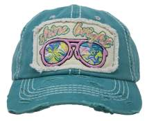 Funky Junque Womens Baseball Cap Vintage Distressed Embroidered Patch Saying Hat