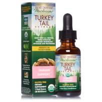Host Defense, Turkey Tail Extract, Natural Immune System and Digestive Support, Daily Mushroom Mycelium Supplement, Organic, 1 fl oz (15 Servings)