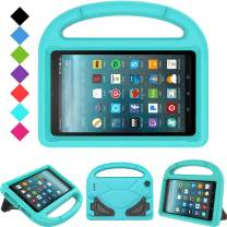 "Kids Case for All-New Fire 7 2019/2017 - TIRIN Light Weight Shock Proof Handle Kid–Proof Cover Kids Case for Amazon Fire 7 Tablet (9th/ 7th/ 5th Gen, 2019/2017/ 2015 Release)(7"" Display), Turquoise"