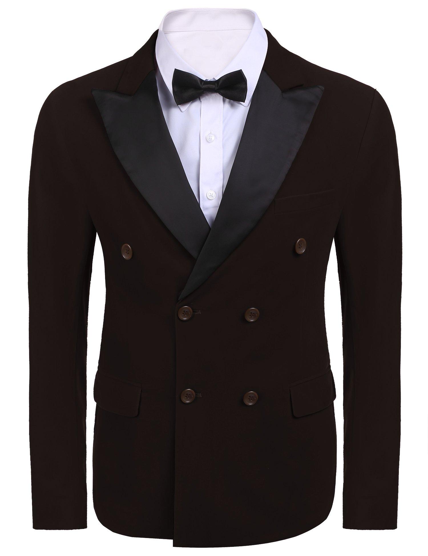JINIDU Men's Modern Tuxedo Jacket One Button Casual Suit Blazer Jacket for Dinner, Party, Wedding, Prom
