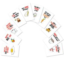 Assortment of 10 'Birthday Puns' Greeting Cards - Note Cards with Envelopes - Funny Cartoon Food Puns Bday Cards for All Ages - Stationery Notecards 4.63 x 6.75 inch AC6119BDG-B1x10
