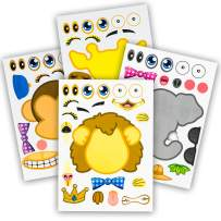 24 Make-A-Zoo Animal Sticker Sheets - Great Zoo And Safari Theme Birthday Party Favors - Fun Craft Project For Children 3+ - Let Your Kids Get Creative & Design Their Favorite Animal Sticker!