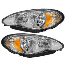 Driver and Passenger Headlights Headlamps Replacement for Chrysler 5116043AB 5116042AB