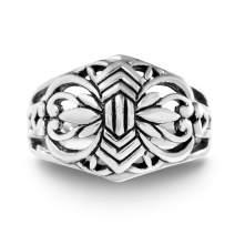 WILLOWBIRD Oxidized Sterling Silver Celtic Filigree Ring for Women (Various Sizes)