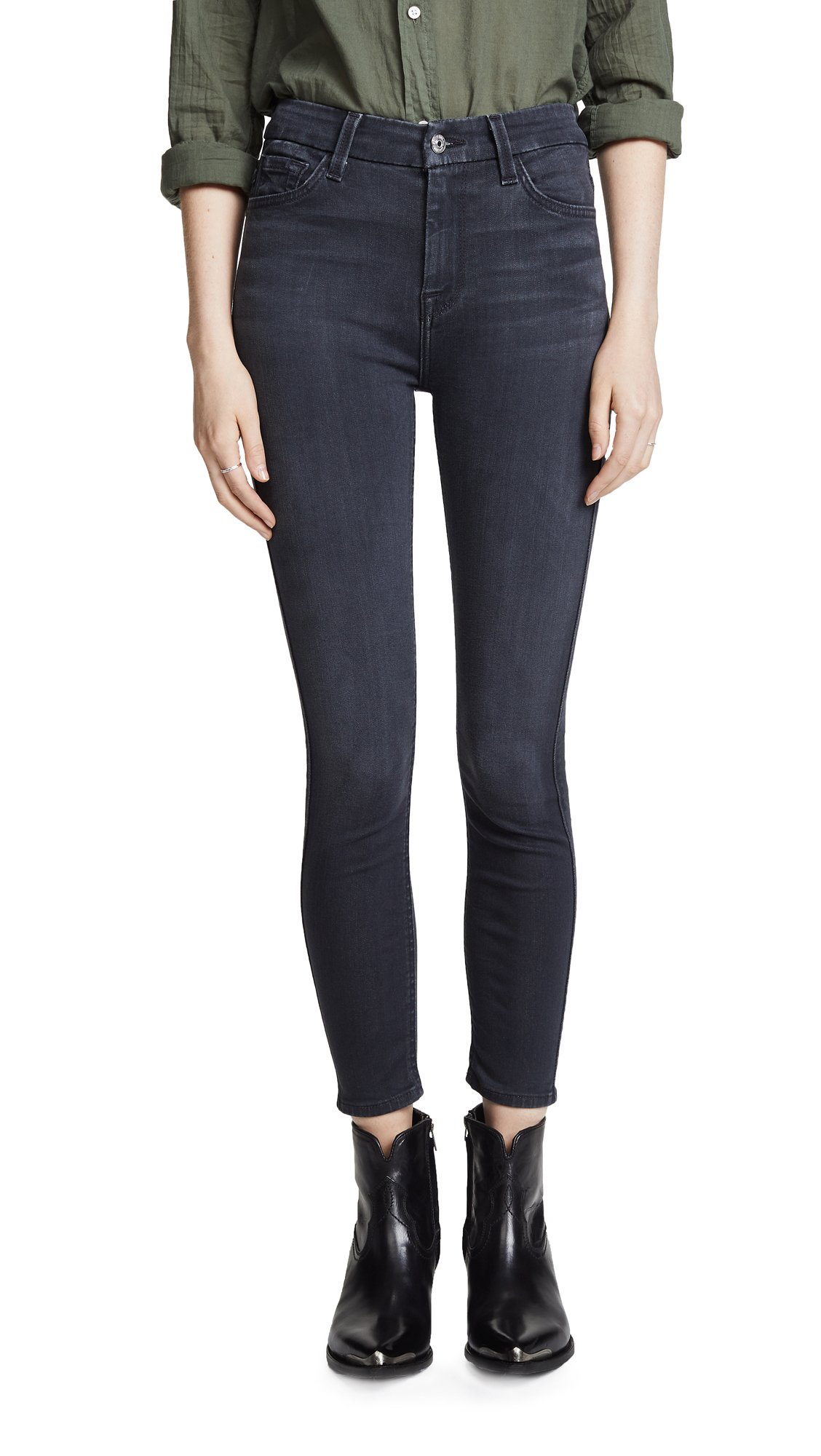 7 For All Mankind Women's The B(air) High Waisted Ankle Skinny Jeans