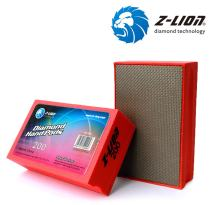 Z-Lion Electroplated Diamond Hand Polishing Pad Foam Back for Granite Marble Stone Glass Ceramic (200#)