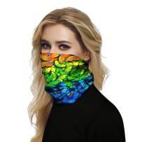 KAKALOT Unisex 3D Print Magic Headband Face Cover Sports Headwear Headwrap Multifunction Seamless Bandanas