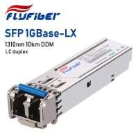 FlyFiber Gigabit SFP LC Single-Mode Transceiver,1000BASE-LX/LH Mini-GBIC Module for TP-Link (SMF, 1310nm, 10km, Dual LC, DDM)