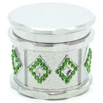 SNVIN Exclusive Design of a Small Grinder with Rhinestones for Grinding Herbs and Vanilla (Silver)