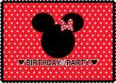 WOLADA 7x5ft Birthday Backdrop Mouse Backdrop Baby Birthday Party Photography Backdrop Red Mouse Photo Backdrop for Studio Props 11331