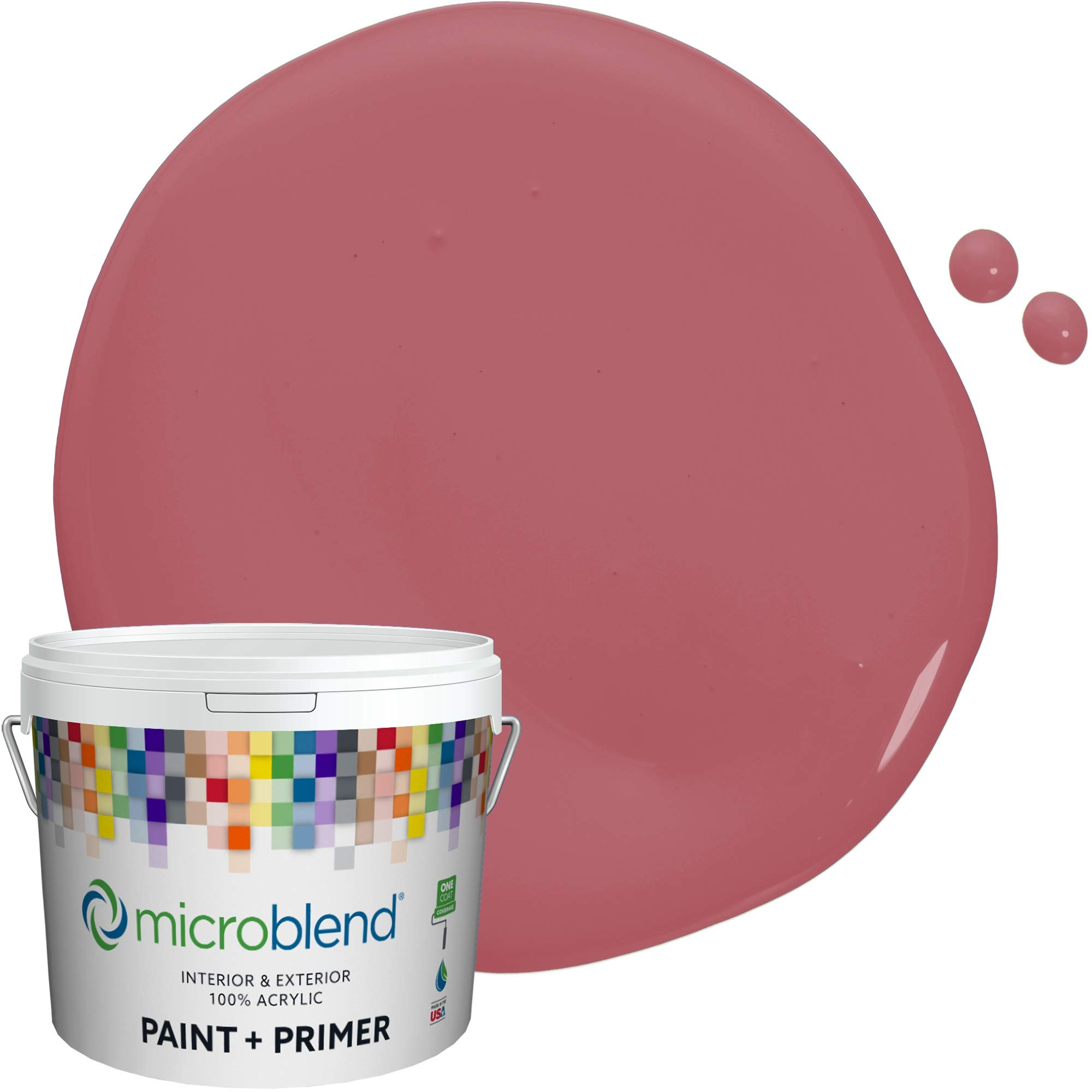 MicroBlend Interior Paint + Primer, Royal Raquel, Semi-Gloss Sheen, 1 Gallon, Custom Made, Premium Quality One Coat Hide & Washable Paint (73243-2-M1188B5)