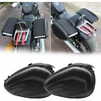 Saddle Bag, TBVECHI Black Motorcycle Rear Seat Luggage Saddle Bag Large Capacity Multi-use Expandable Motorcycle Rear Seat Saddle Bags