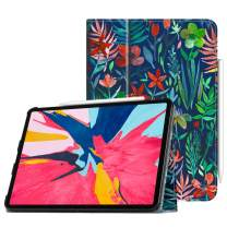 "Fintie Folio Case for iPad Pro 11"" 2018 [Supports 2nd Gen Pencil Charging Mode] - PU Leather Folio Stand Cover with [Secure Pencil Holder] Auto Sleep/Wake for iPad Pro 11 inch, Jungle Night"