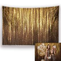 Allenjoy 7x5ft Gold Glitter Stripes Backdrop Bling Bokeh Photography Background Vintage Adult Birthday Bachelorette Wedding Graduation Prom New Year Roaring 20s Party Decorations Photo Booth Supplies