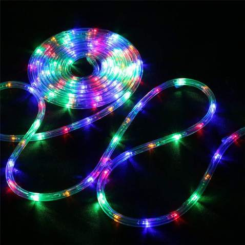 Remote Control 12m LED Rope Tube String Fairy Lights Outdoor Garden Party Lamp