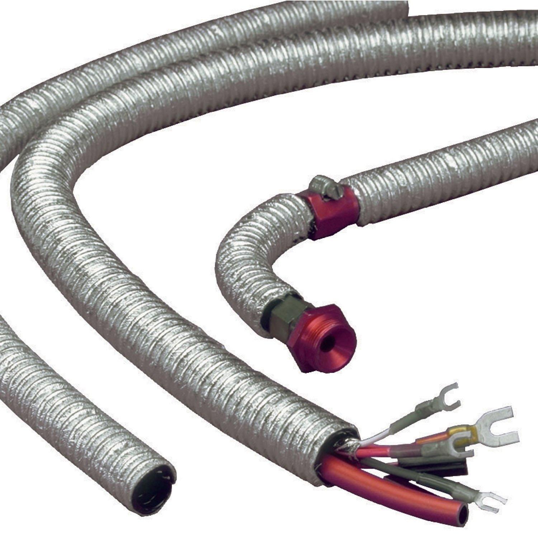 "Design Engineering 010406 Cool-Tube Heat Reflective Sleeve, 0.75"" x 36"" - Silver"