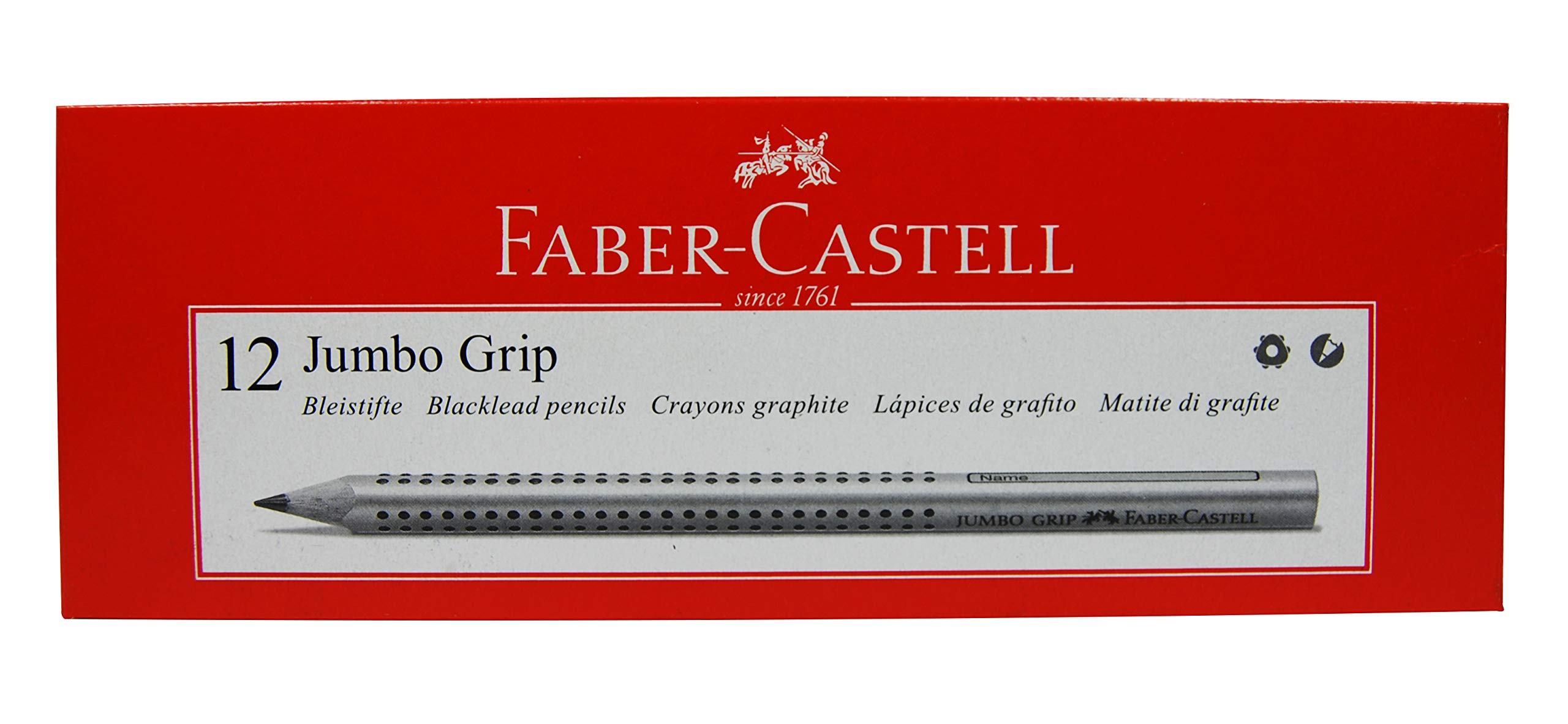 Faber-Castell 12 Count Jumbo Grip Graphite Pencils