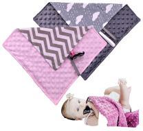 Baby Blanket Infant Lovey Security Blanket Pacifier Holder Baby Lovely Blanket Pack of 2